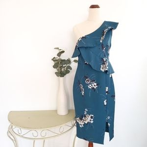 Tokito Size 10 Blue / Green Floral Dress